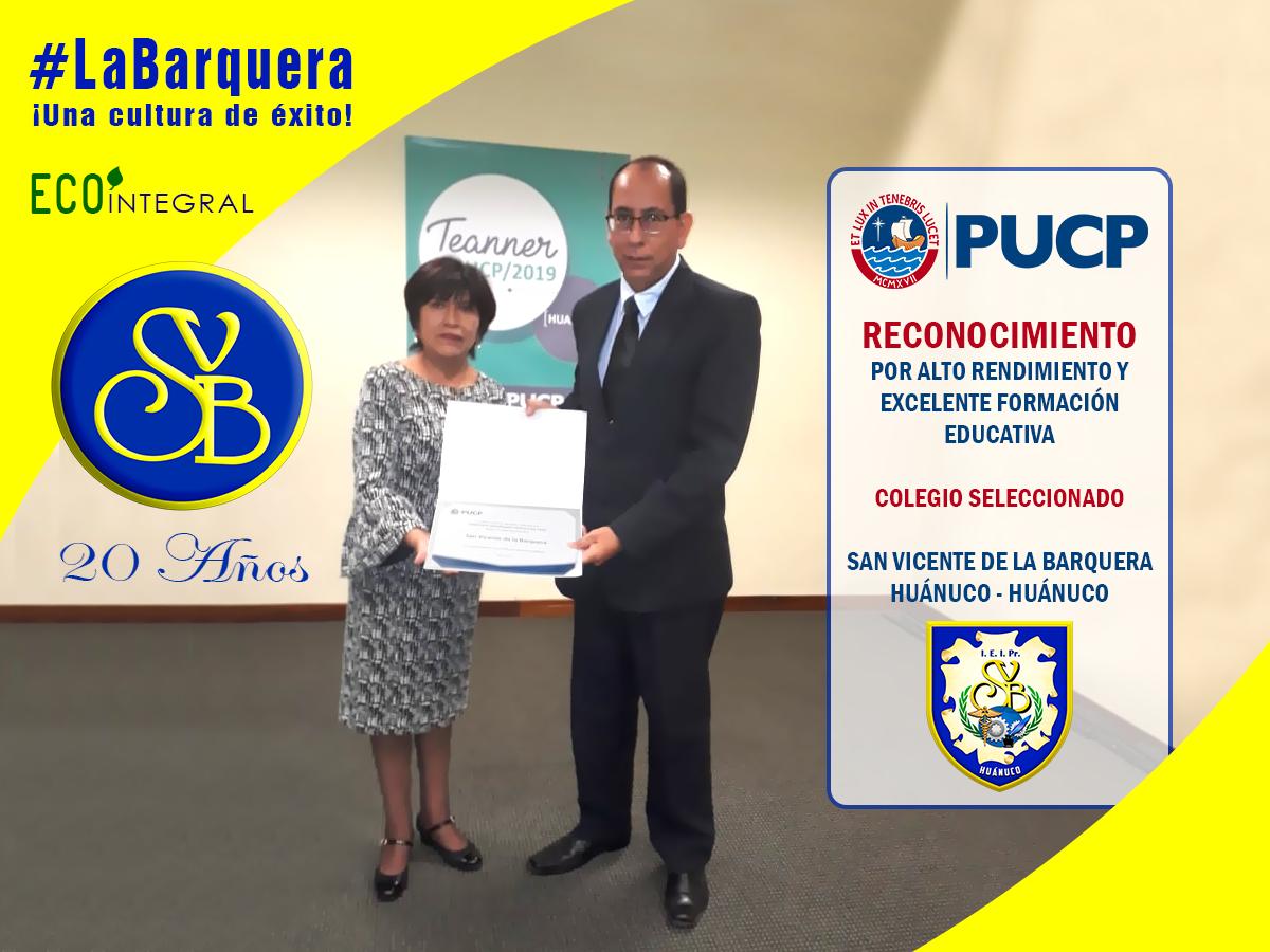 ¡Colegio Excelencia!, reconocido por la Universidad Católica (PUCP) por alto rendimiento en la formación educativa